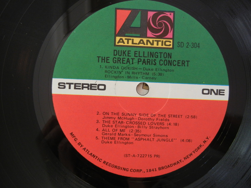 Duke Ellington - Atlantic SD 2-304 The Great Paris Concert