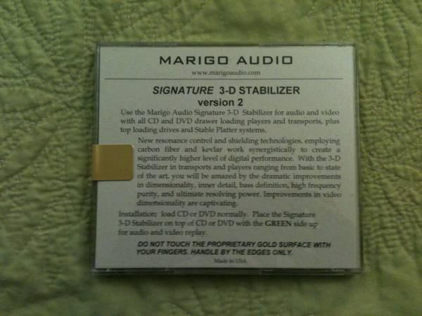 Marigo Audio  Signature Gold 3-D v2 Stabilizer Mat *NEW IN PACKAGE*