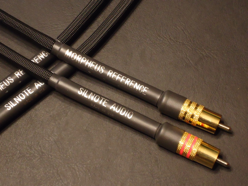 SILNOTE AUDIO CABLES Morpheus Reference Cardas RCA's 24k Gold/ Silver 1 meter Interconnects Excellent Reviews on SILNOTE AUDIO CABLES !!
