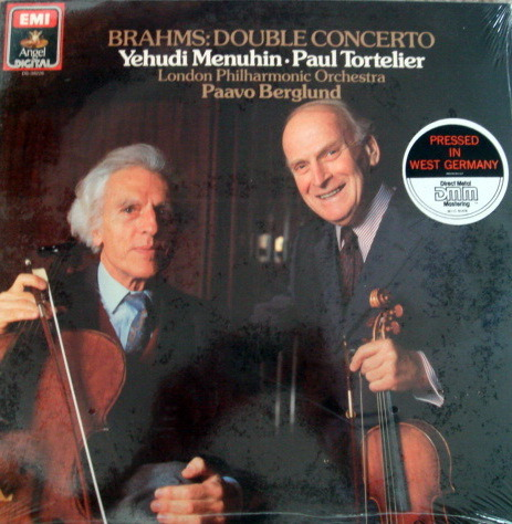 ★Sealed★ EMI Angel / MENUHIN-TORTELIER, - Brahms Double Concerto, German Pressing!