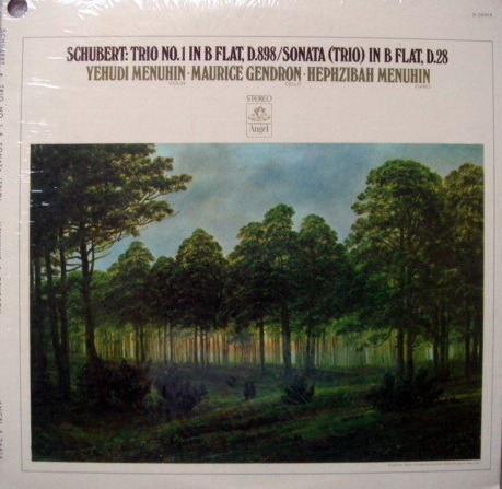 ★Sealed★ EMI Angel / GENDRON-MENUHIN - Schubert Trio No.1, Trio Sonata in B Flat!