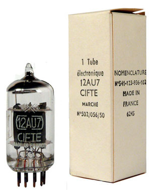 French Military By mazda/cifte nos 12au7 tubes, look
