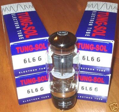 Tung Sol 6L6G / 6L6 Big Bulb Tubes, matched quads, new