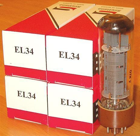 Svetlana EL34 tubes, brand new matched quads !