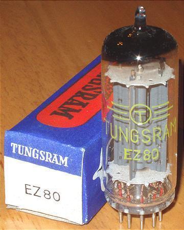 Tungsram EZ80 /6V4 rectifier tube brand new in boxes !