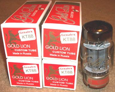 Genalex  Gold Lion KT88 tubes, Reissue brand new quads !