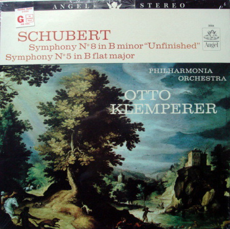 ★Sealed★ EMI Angel / KLEMPERER,  - Schubert Symphonies No.5 & No.8 Unfinished!