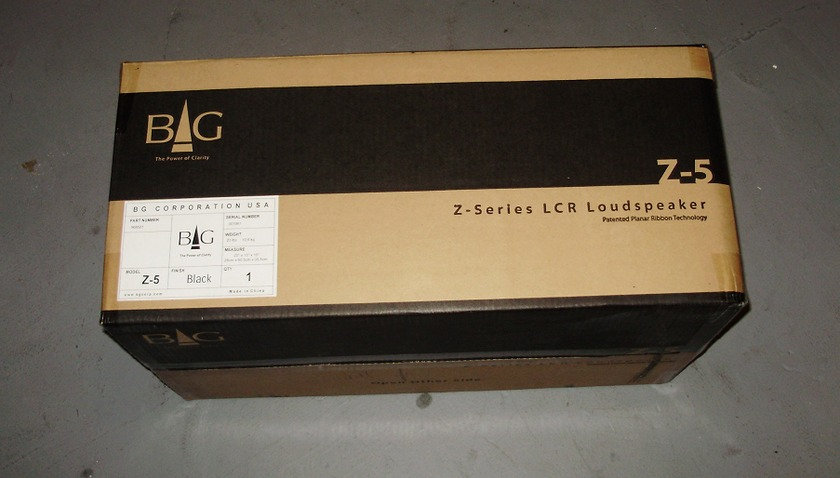 BG   Radia Z 5  Black Finish factory sealed box,new
