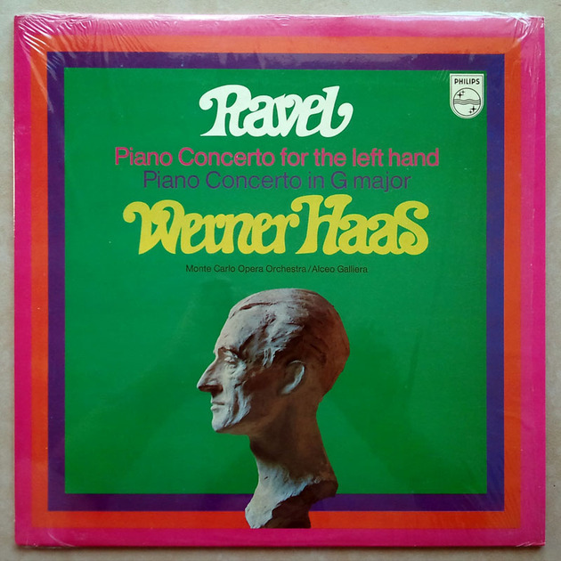 Philips/Werner Haas/Ravel - Piano Concerto for the left hand, concerto G major / NM