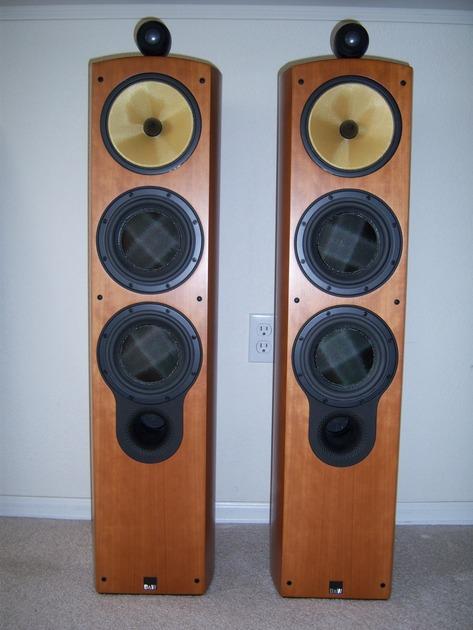 B&W 804S Cherry wood finish (pair)
