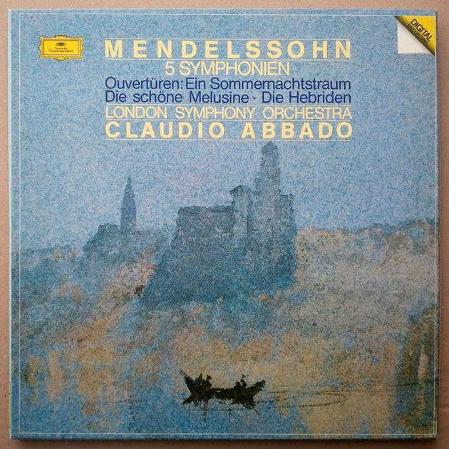 DG Digital/Abbado/Mendelssohn - 5 Symphonies / 4-LP box set / NM