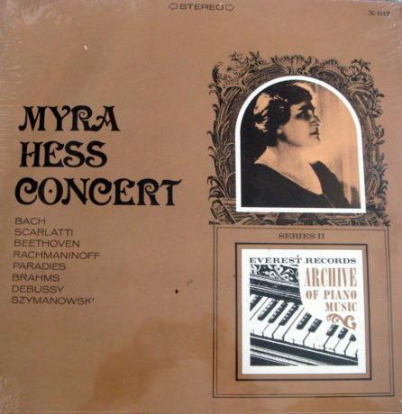 ★Sealed★ Everest /  - MYRA HESS Concert, Bach-Scarlatti-Beethoven piano Music!