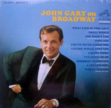 ★Sealed★ RCA Victor - John Gary on Broadway!