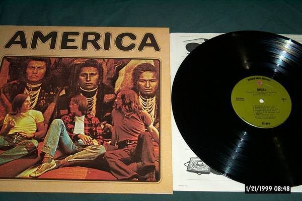 America - S/T first pressing wb green olive
