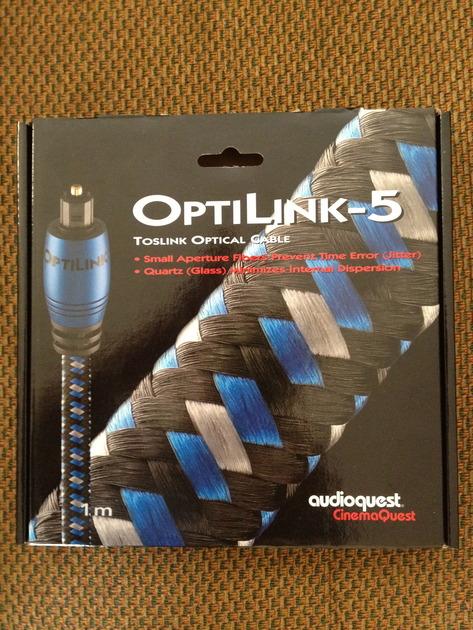 Audioquest Optilink 5 toslink optical cable 1 meter