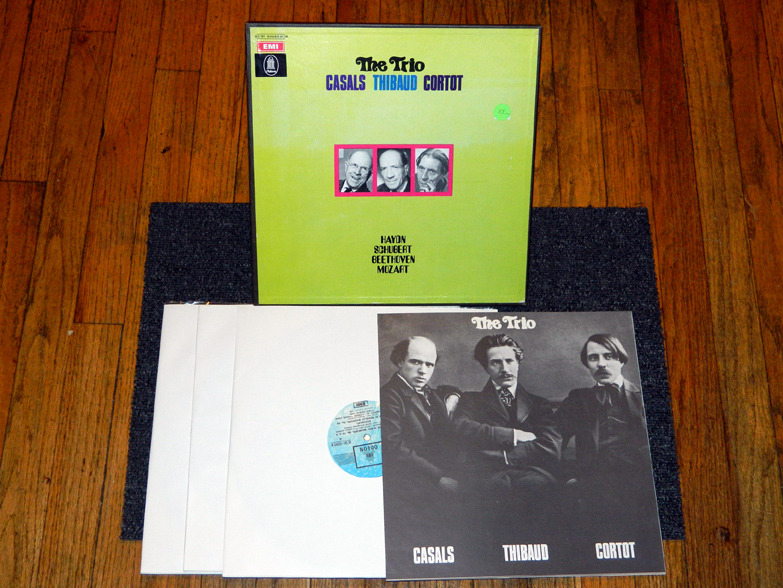 Pablo Casals, Jacques Thibaud, Alfred Cortot - The Trio EMI Odeon  3-Lps NM