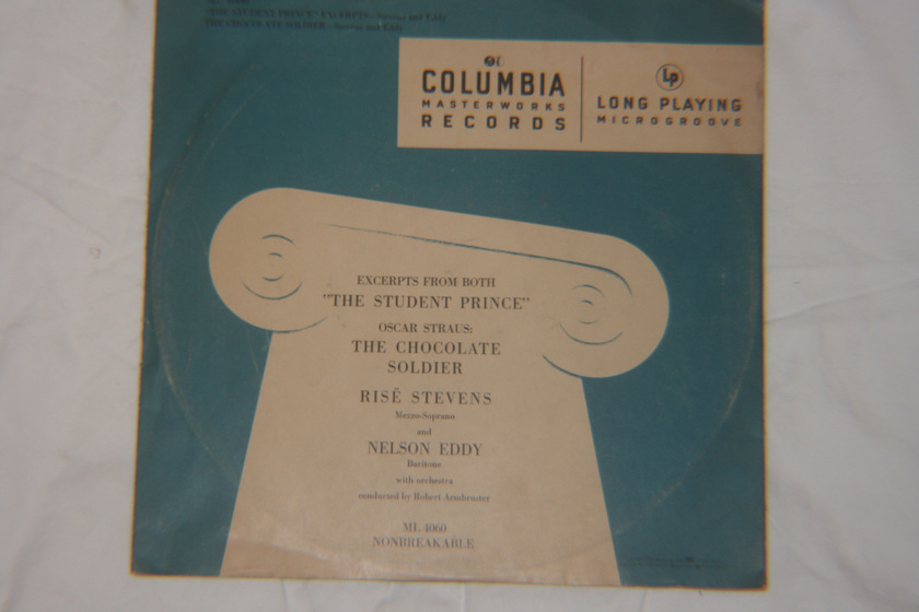 "Robert Armbruster - ""The Student Prince"" & The Chocolate Soldier Columbia ML 4060"