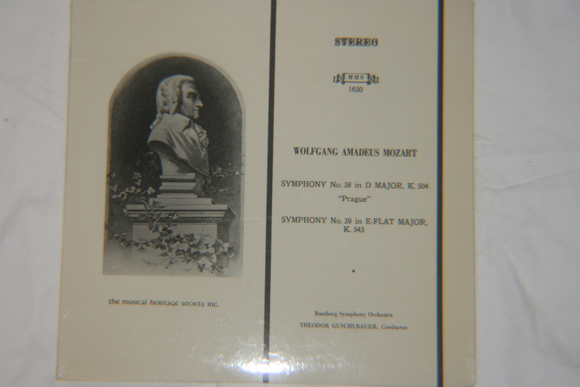 Bamberg Symphony Orchestra - Wolfgang Amadues Mozart Symphony No. 38 & No. 39 Stereo MHS 1630