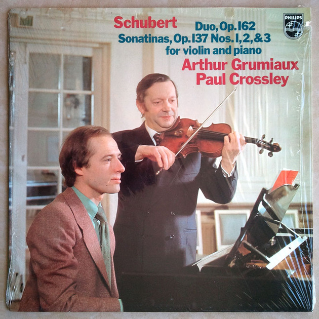 Philips/Grumiaux/Crossley/Schubert - Duo Op.162, Sonatinas Op.137 for Violin and Piano / NM