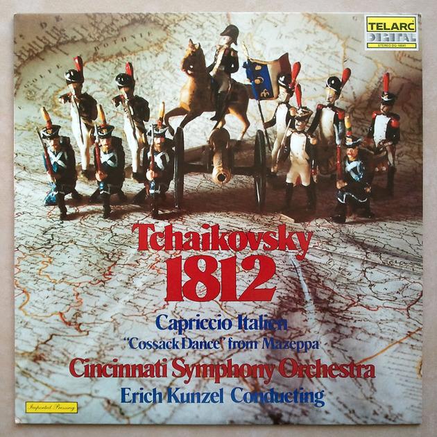 Telarc/Erich Kunzel/Tchaikovsky - 1812, Capriccio Italien / NM