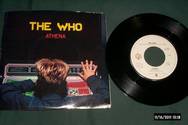 The who - Athena 45 with picture sleeve nm