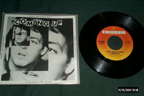 Paul Mccartney - Coming Up 3 track ep with sleeve nm