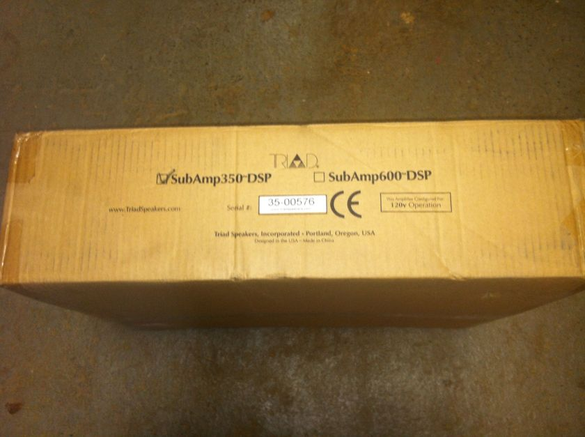 Triad 350-DSP Sub Amp 350 DSP brand new
