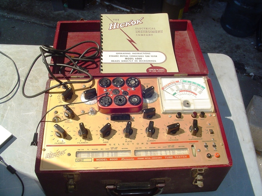 Hickok 6000 Tube Tester Serviced Ready Ex Condition