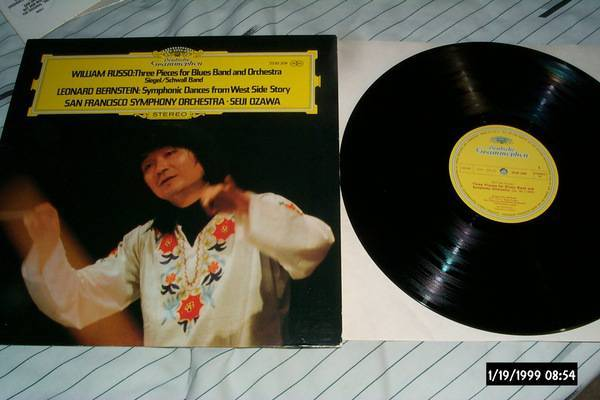 Seiji Ozawa - Three Pieces For blues band dgg lp nm