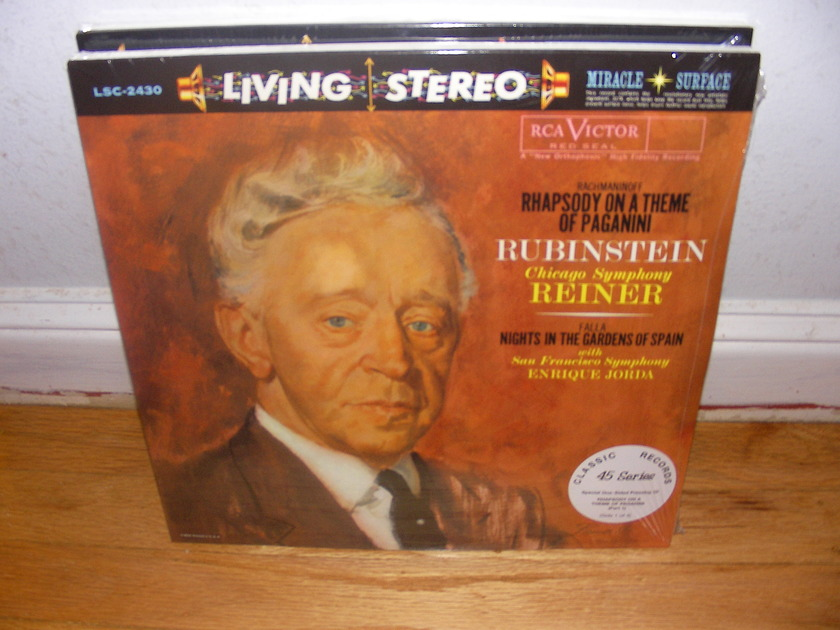 Living Stereo 45 RPM LP Sealed - Rubinstein/Reiner  Rhapsody on a Theme of Paganini