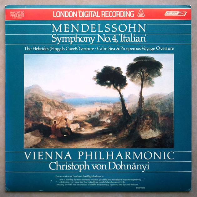 London Digital/Dohnanyi/Mendelssohn - Symphony No.4 Italian, Overtures / NM