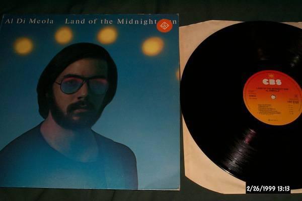 Al Di Meola - Land Of The Midnight sun uk vinyl cbs records