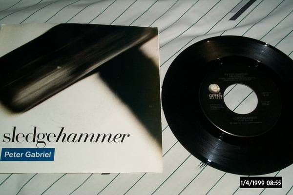 Peter Gabriel - Sledgehammer 45 with picture sleeve