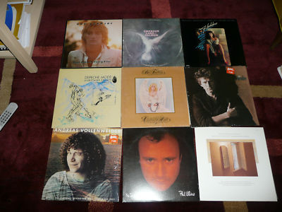 24 LP lot-Phil Collins Stewart Buffett America Byrds Paul Simon Chicago - Depeche Mode, Fogelberg, Weather Report, Don Henley MORE