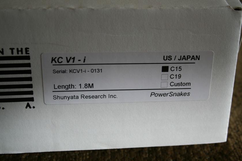 Shunyata Research King Cobra V1i (Black)  15 amp (see pics)