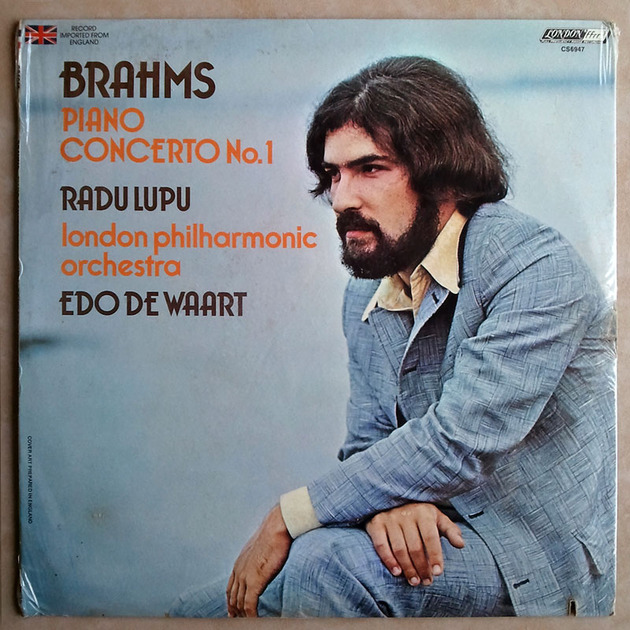 Sealed/London ffrr/Radu Lupu/Brahms - Piano Concerto No.1 / Edo de Waart conducting the London Philharmonia Orchestra