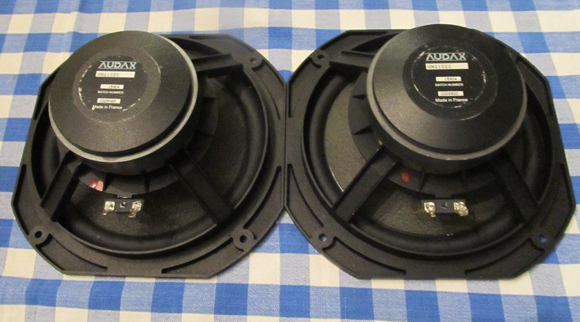 Audax Woofers 8 inch HM210Z0 (PAIR) - rare  foam surround - same batch