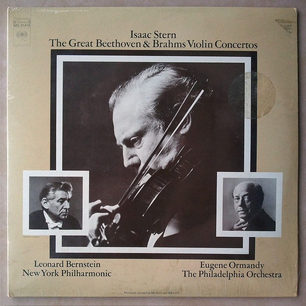 SEALED/Columbia/Stern/Beethoven - & Brahms Violin Concertos w/ Bernstein & Ormandy