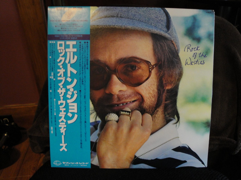 Elton John - Rock of the Westies Japanese Pressing w/obi Near Mint
