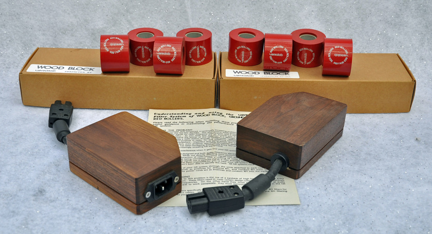 VERSA LABS RFI suppression Sys Wood Blocks - Red Rollers mostly very light use