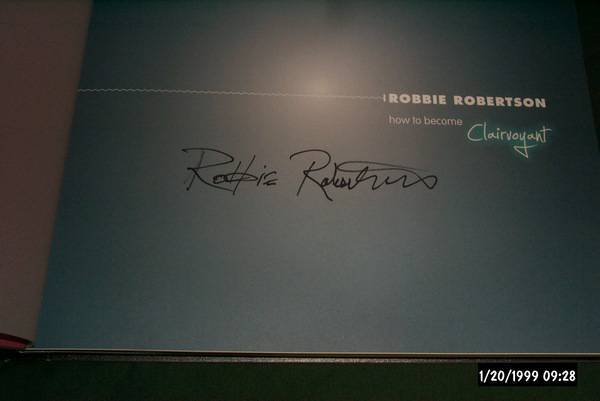 Robbie Robertson - How To Become clairvoyant signed box set ltd