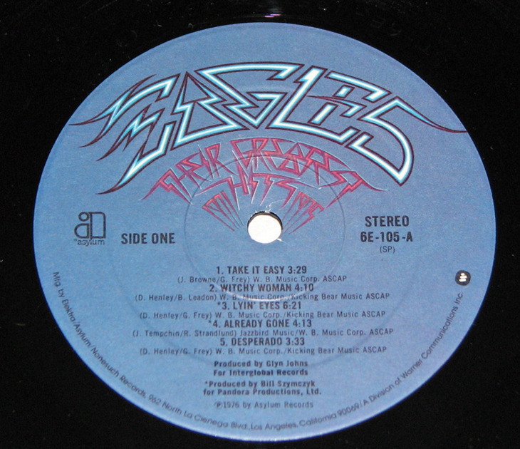 Eagles - Their Greatest Hits Near Mint- LP Embossed Cover