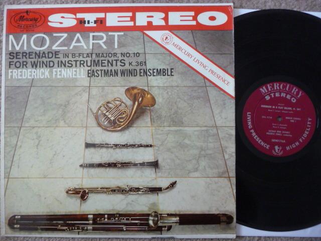 MOZART - SERENADE FOR WIND INSTRUMENTS MERCURY LP