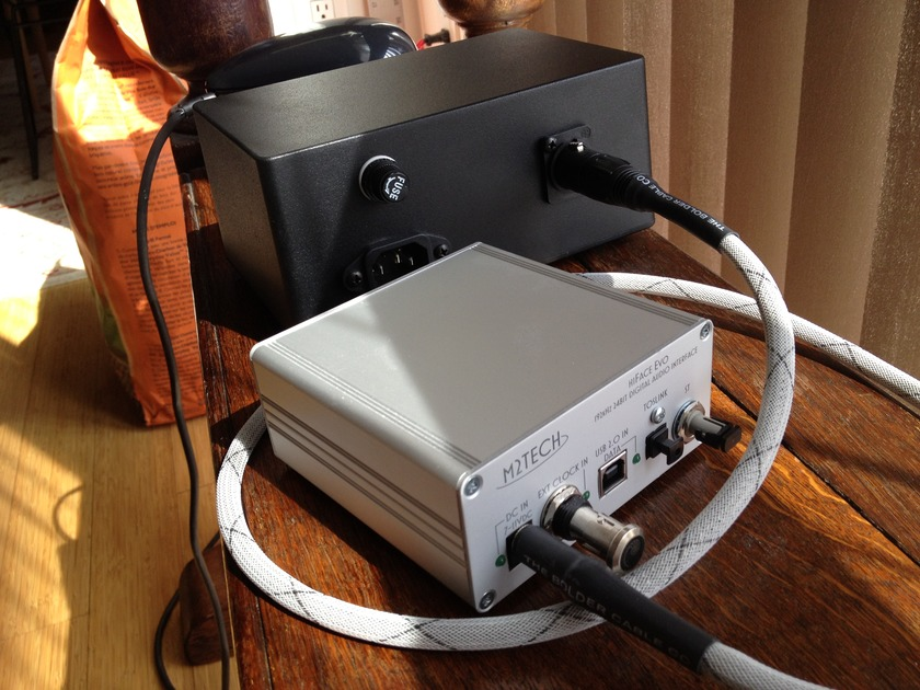 M2Tech Hi-Face Evo AND Bolder Deluxe Linear Power Supply with Summit DC output cable option + Bybee inside