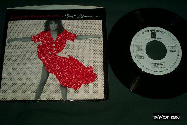 Linda Ronstadt - Get Closer promo 45 mono/stereo nm