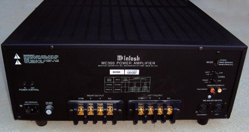 McIntosh MC300 amp trades, free layaway, lowest price