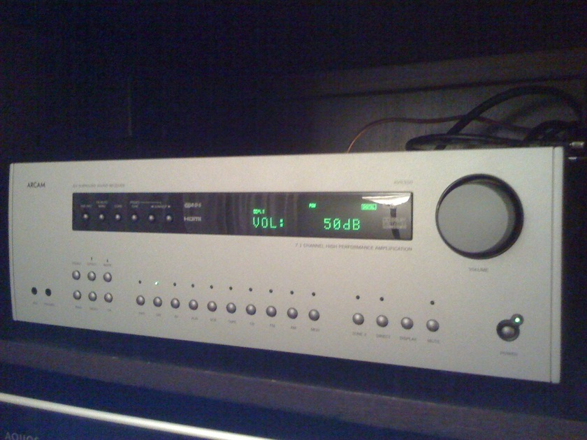 Arcam AVR350 7.1 Channel Home Theater Receiver in Silver