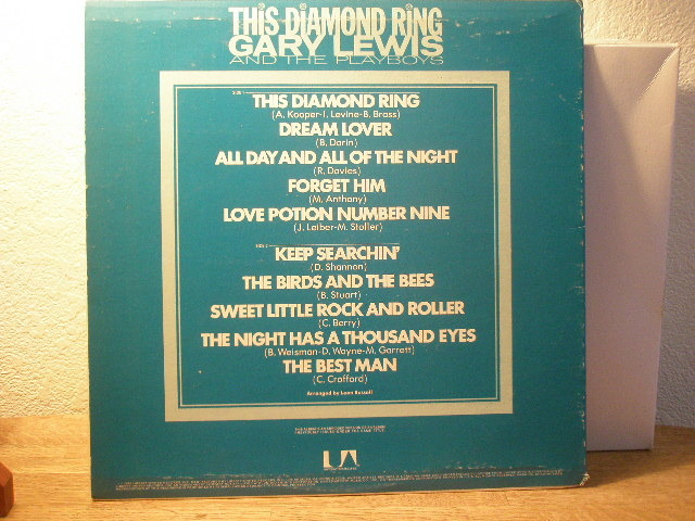 Gary Lewis And The - Playboys This Diamon d ring no bar code $10 deliver