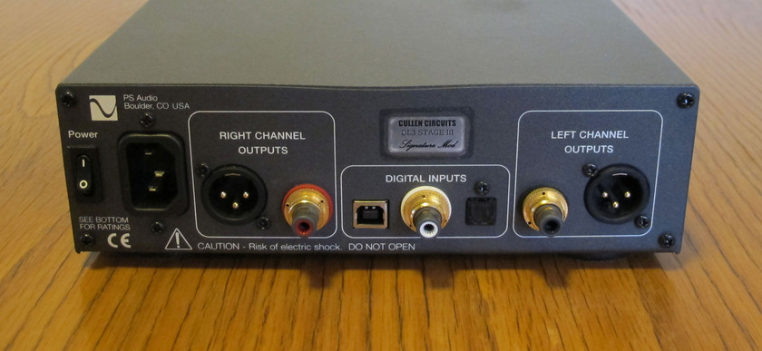 PS Audio DAC III with Cullen Stage III/Level III Modification