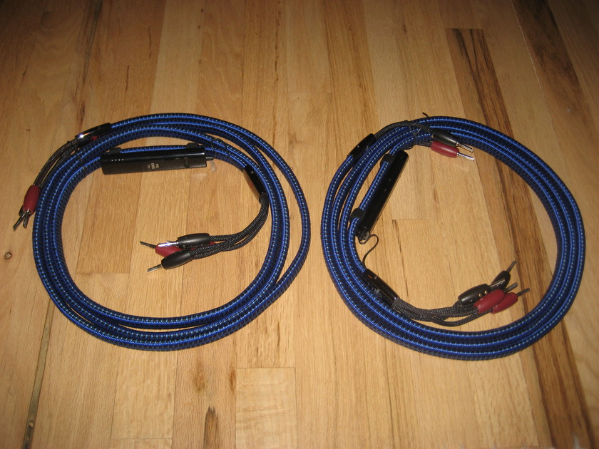 AudioQuest Gibraltar 10 Ft. pair of Single Bi-Wire Speaker Cables with 72v DBS